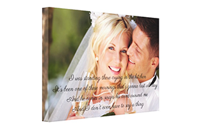 Personalized Wedding Gift Canvas Prints