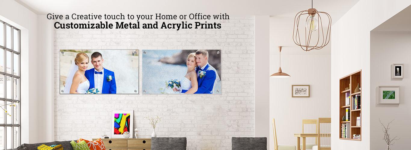 Customizable Metal and Acrylic Prints