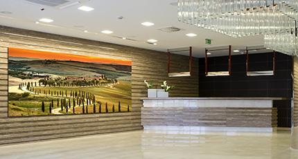Modern lobby interior.- lobby interior Wall Art
