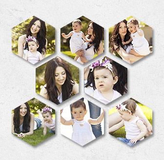 Vertical Hexagonal Prints Bundle of 8