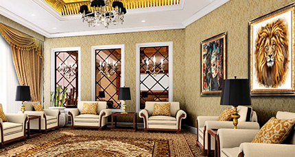 Luxury waiting lounge interior - waiting lounge Wall Art