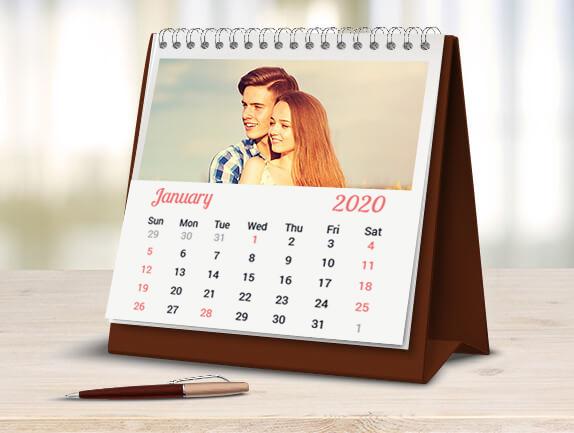 Desk photo calendars