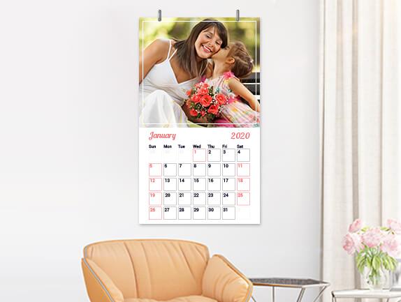 Wall photo calendars