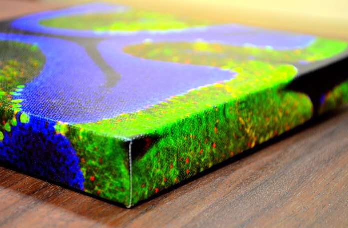 Canvas Prints are Wrapped around 1.5 Thick