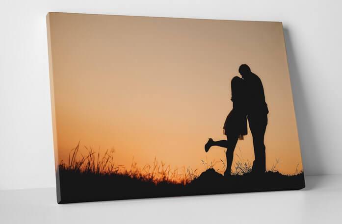 Romantic Couple Sunset Canvas Prints / Canvas Art