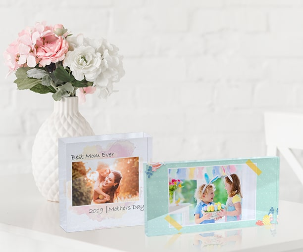 Mount a memory in these gorgeous custom acrylic blocks