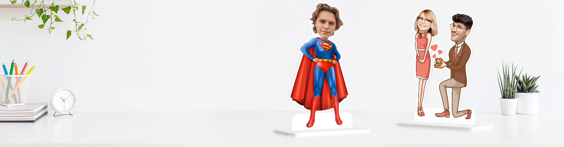Personalized Caricature Photo Stands