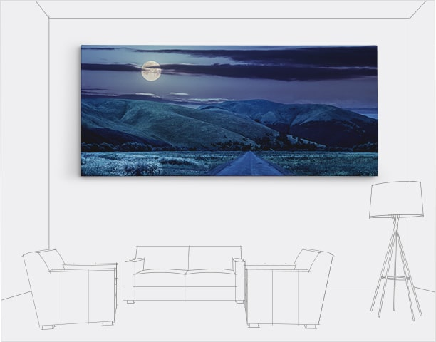 Panoramic Large Canvas Photo Prints