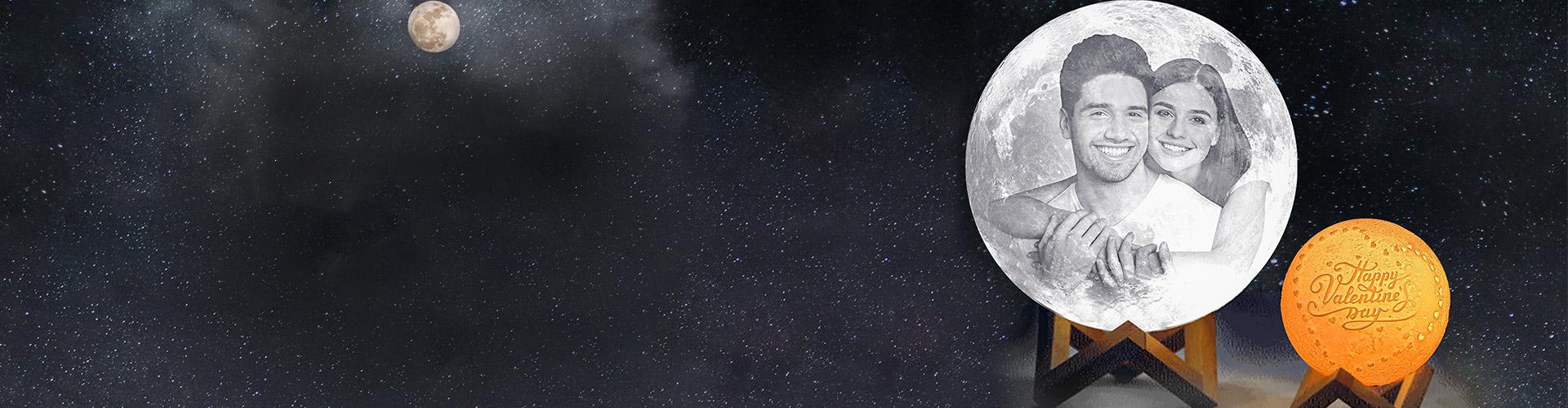 Personalised Moon Lamp
