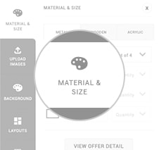 MATERIAL & SIZE
