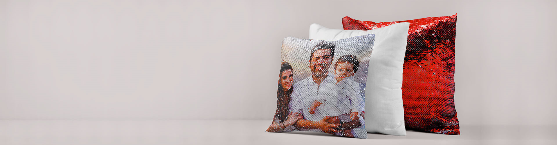 Custom Sequin Photo Pillows