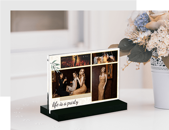 Photos Stand Out with Acrylic Block Stand